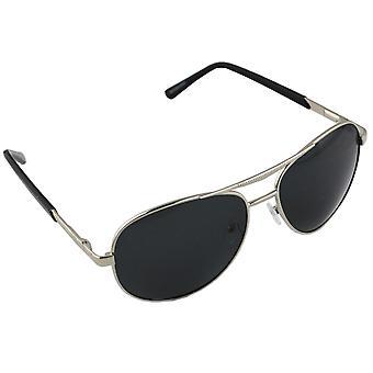 Men's sunglasses and Sunglasses Women's Polaroid Pilot - Silver/Black with free brillenkokerS303_1