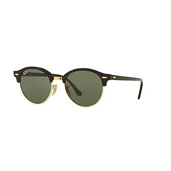 Ray-Ban Clubround RB4246 901 Black/Green Sunglasses