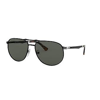 Persol PO2455S 107858 Demi Gloss Black/Green Polarised Sunglasses