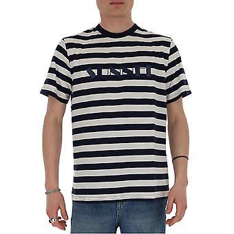 Sunnei Mh01ecr01wbls Men-apos;s Blanc/bleu T-shirt en coton