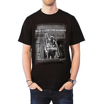 Rage Against The Machine T Shirt Bola Euro Tour Band Logo Official Mens Black