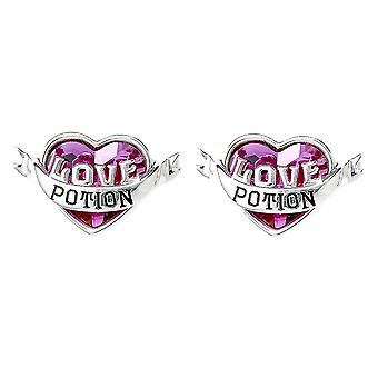 Harry Potter Love Potion Stud Earrings Embellished with Swarovski Crystals