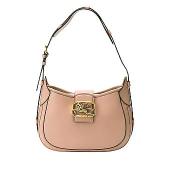 Etro Ezgl169004 Women's Pink Leather Shoulder Bag