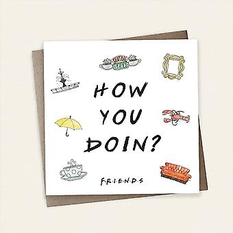 Cardology Friends Tv Show How You Doin? Greeting Card