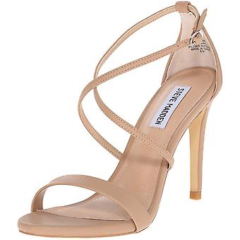 Steve Madden Womens Feliz Rubber Open Toe Casual Ankle Strap Sandals