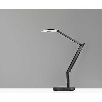 """8.5 """"x 32"""" x 32.5 """"בלאק מטאל LED מנורה שולחן"""