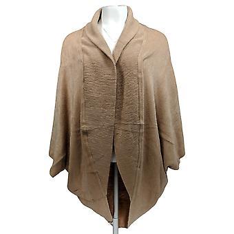 Lizden Women's Sweater Marvelush Ribbed Shawl Collar Shrug Beige A270284