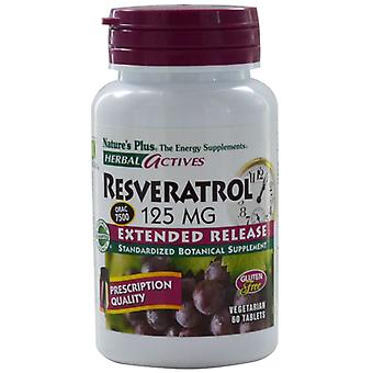 Nature's Plus Herbal Actives Resveratrol Extended Release 125mg Tabs 60 (7370)