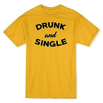 «Ivre et unique» bière drôle devis T-shirt homme
