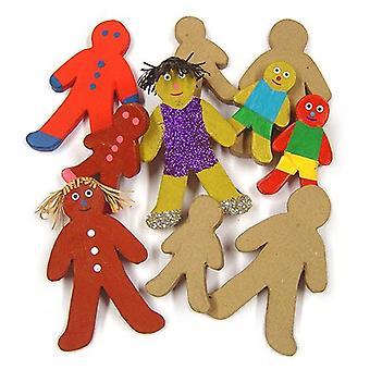 Major Brushes Paper Mache Gingerbread Men Pack of 10