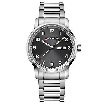 Wenger Attitude Heritage Quartz Black Dial Black Stainless Steel Bracelet Men's Watch 01.1541.119 RRP £155