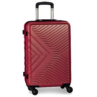 Fabrizio Worldpack Globe Kézipoggyász Kocsi S, 4 kerék, 54 cm, 41 L, piros