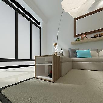 Stolik kawowy&Mia Color Wenge, Biały w melaminie Chip 45x30x45 cm