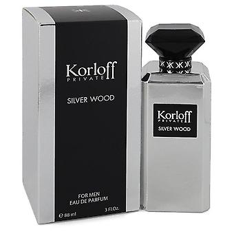Korloff Silver Wood Eau De Parfum Spray By Korloff 3 oz Eau De Parfum Spray