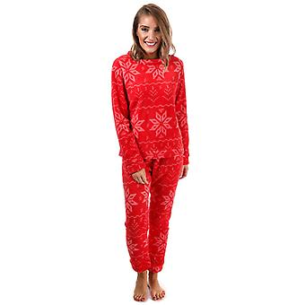 Women's Brave Soul Fairisle Pyjamas in Red