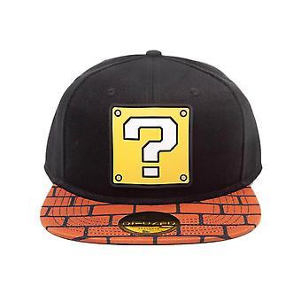 Super Mario Question Block and Brick Snapback Cap