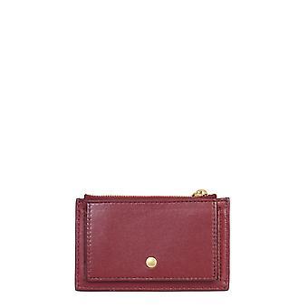Bottega Veneta 609294vcpp36206 Women's Burgundy Leather Card Holder