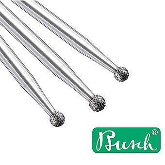 Busch Diamond Round Burr No 801 - Escolha de 0,9 a 1,8mm