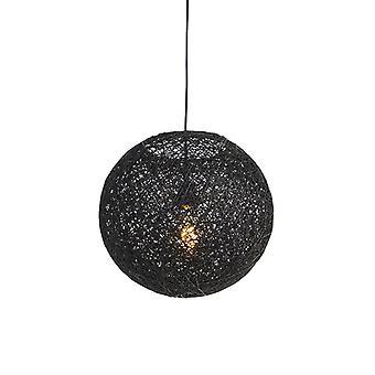 QAZQA pendentif lampe Corda 35 noir
