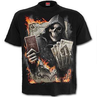 Spiral - ace reaper - mens t-shirt - black