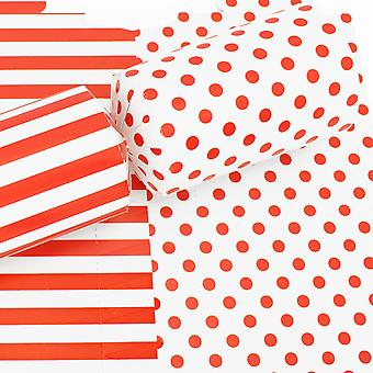 10 Red Spots & Stripes Basic Cracker Boards & Snappy Strips - Make Your Own