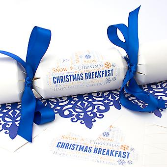 6 Christmas Breakfast kjeks-make & Fyll ditt eget Kit
