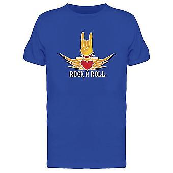 Hand In Rock N Roll Design Tee Men-apos;s -Image par Shutterstock