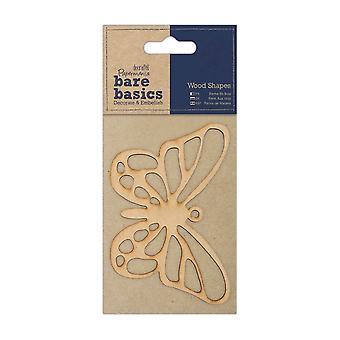 Papermania Bare Basics Formas de madera - Mariposa