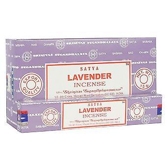 Satya Lavender Incense Sticks (Box With 12 Packs)