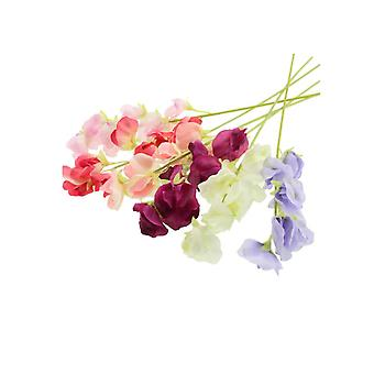Single 49cm Pretty Sweet Pea Stem - Artificial Fabric Flowers