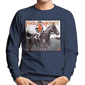 The Saturday Evening Post Fools Money 1906 Cover Men's Sweatshirt