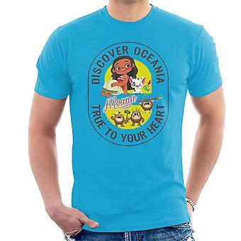 Disney Moana Découvrez Oceania Men-apos;s T-Shirt