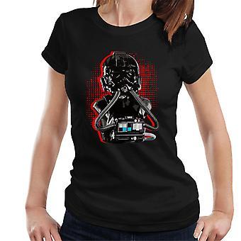 Original Stormtrooper Imperial TIE Pilot Red Burst Women's T-Shirt