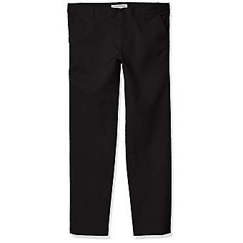 Essentials Girl's Plus Uniform Chino Pants, Black, 12(P)