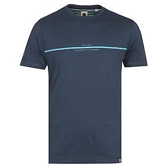 Joli T-shirt bleu bleu bleu de Damon bleu