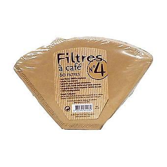 Coffee filters n ° 4 60 units