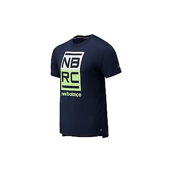 New Balance Printed Impact Run MT01235ELR koulutus ympäri vuoden miesten t-paita