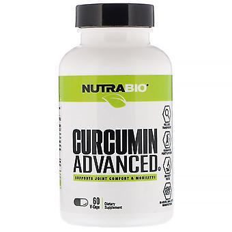 NutraBio Labs, Curcumin Advanced, 60 V-Caps