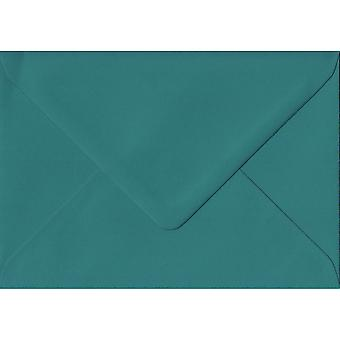 Teal groen gegomd C6/A6 gekleurde groene enveloppen. 135gr GF Smith Colorplan papier. 114 mm x 162 mm. bankier stijl envelop.