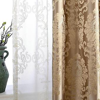 European Damask Curtains For Living Room, Luxury Jacquard Blind Drapes, Window