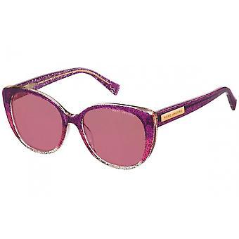 Sunglasses Women's Cat-Eye Purple Glitter