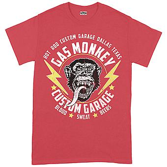 Gas Monkey Garage Monkey & Bultar Röd Officiella Tee T-Shirt Unisex