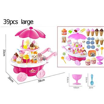 39 Pc's Simulatie Kleine Karren House Game Ice Cream Shop Supermarkt Barbecue Kinderen 's Speelgoed- Playing Home Baby Toys