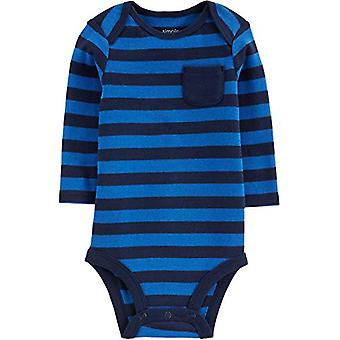 Simple Joys by Carter's Boys' 4-Pack Soft Thermal Long Sleeve Bodysuits, Stri...