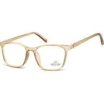 Lesebrille Unisex  HMR56 gold/transparente Stärke +1,00