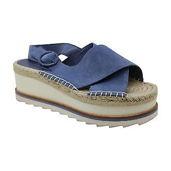 Marc Fisher Women's Glenna lederen open teen casual enkelband sandalen