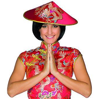 Kinesisk hat dragon hat cap Kina hat traditionelle kegle hat