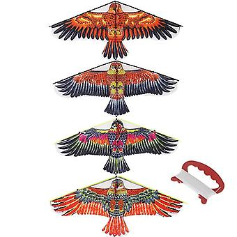 1m Flat Eagle Kite con 30 metri Kite Line bambini Flying Bird Kites Windsock Outdoor Toys For Kids Gift Garden Cloth Toy (colore casuale)