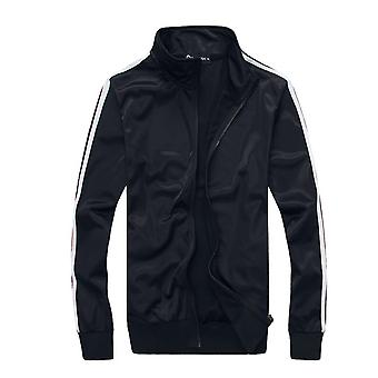 Men's Casual 2 Pieces Contrast Cord Full Zip Sports Sets Jacket