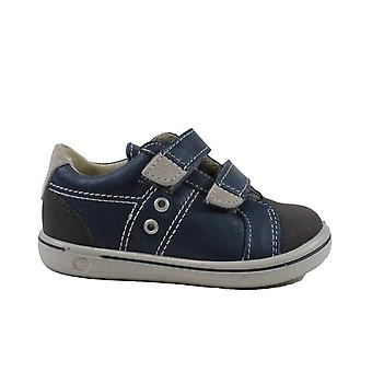 Ricosta Nippy 2623000-152 Blue Leather Boys Rip Tape Zapatos Casual
